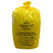 yellow clinical waste sacks - BA125